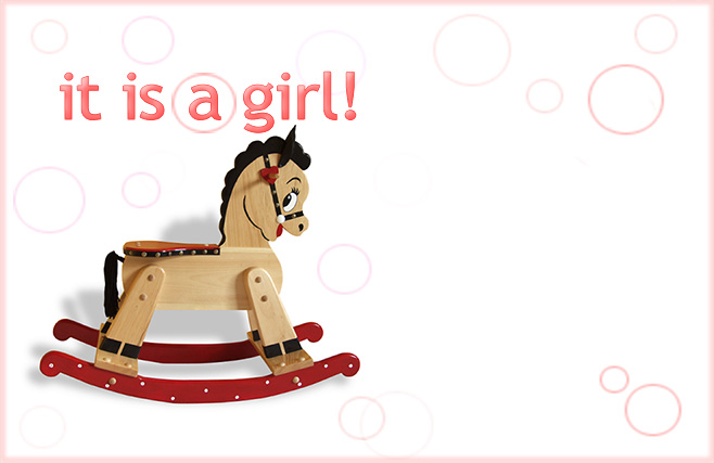 Its a girl - Horse